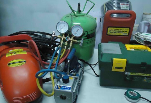 Một vài thiết bị bảo dưỡng điều hòa (Ảnh VietFix)