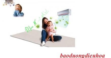 Sử dụng điều hòa cho trẻ